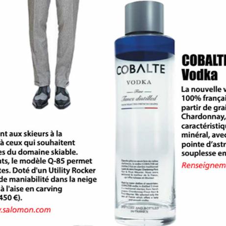 Cobalte vodka est dans le magazine Le Point du 8 janvier 2015