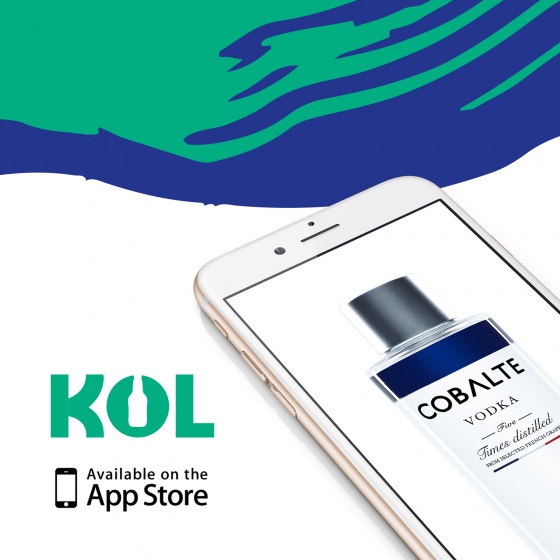 Cobalte disponible sur l'application de livraison d'alcool KOL